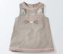 Fröhliches Trägerkleid aus Cord Grau Baby Boden