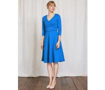 Bryony Kleid aus Ponte-Roma-Jersey Blau Damen