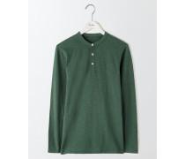 Genopptes Henleyshirt mit langen Ärmeln Grün Herren
