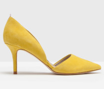 Die zweiteiligen Pumps Gelb Damen
