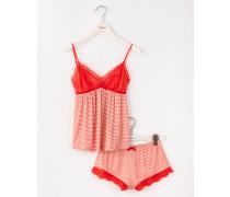 Jerseyschlafanzug Rot Damen