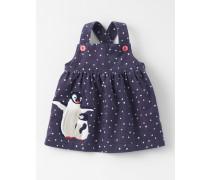 Trägerkleid aus Cord mit Winterfreunden Dunkelgrau Baby Boden