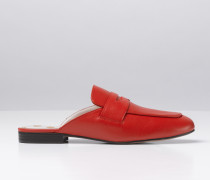 Backless Loafer Rot Damen