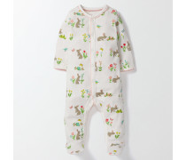 Superweicher Schlafanzug mit Häschen Elfenbeinfarben Baby Boden
