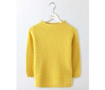 Skye Pullover mit Stehkragen Gelb Damen
