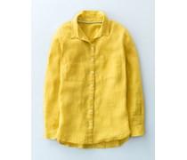 Das Leinenhemd Gelb Damen Boden