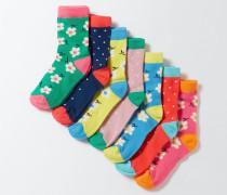 Socken im 7er-Pack Bunt Mädchen