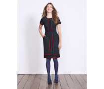 Edith Kleid mit Borte Navy Damen