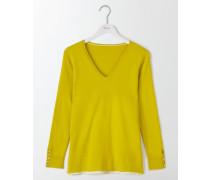 Tilly Lässiger Pullover mit V-Ausschnitt Gelb Damen