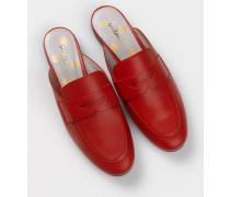 Backless Loafer Rot Damen Boden
