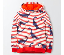 Kapuzenpullover mit Nessie-Motiv Rot Jungen