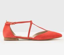 Flache Jennifer Schuhe mit T-Steg Red Damen