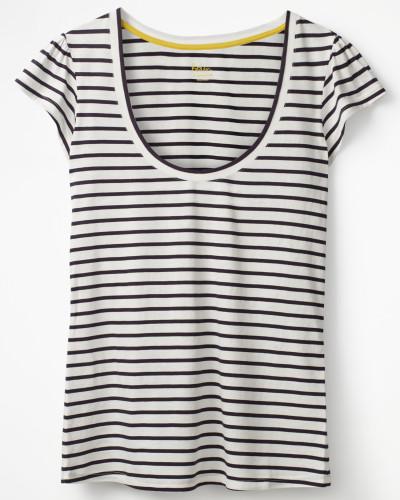 Superweiches Flatter-T-Shirt Ivory Damen