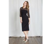 Electra Kleid aus Ponte-Roma-Jersey Schwarz Damen
