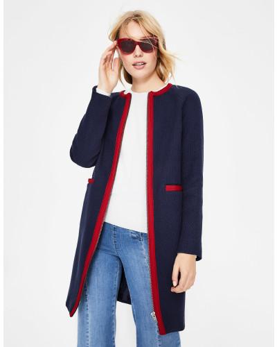 Eadie Strukturierter Mantel Navy Damen