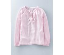 Boho-Bluse aus Gaze Pink Damen