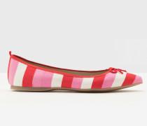 Flache Poppy Schuhe mit spitzer Zehenpartie Pink Damen