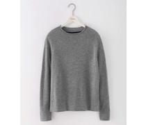 Superweicher Pullover Grau Damen Boden