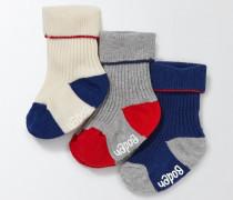 Socken mit Rippenstrick im 3er-Pack Bunt Jungen