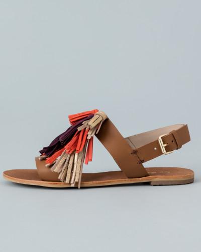boden damen gillian sandalen mit quasten braun boden reduziert. Black Bedroom Furniture Sets. Home Design Ideas
