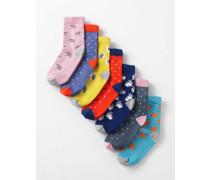 7er-Pack Socken Tiermotiv Mädchen