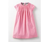 Rüschenkleid mit Biesen Pink