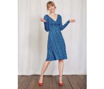 Langärmliges Georgia Kleid Blau Damen