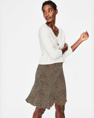 Tilda Pullover mit V-Ausschnitt Ivory Damen