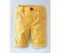 Gelb Warme gefütterte Hose