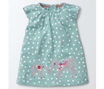 Sommerliches Jerseykleid mit Applikationen Aquamarin Baby Boden