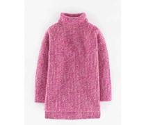 Lässiger Pullover mit Rollkragen Pink Damen