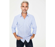 Popeline-Hemd in schmaler Passform Blue Herren