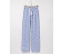Pyjamahose aus Baumwollpopeline Blau Herren