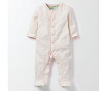 Gepunkteter Schlafanzug aus Frottee Pink Baby Boden
