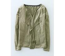 Leinen-Cardigan mit Wasserfallkragen Khaki Damen Boden