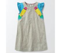 Sommerliches Kleid mit Applikation Silber Mädchen