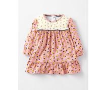 Fließendes Kleid mit Mustermix Pink