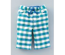 Grün & Blau mit Vichykaros Witzige Hose zum Hochkrempeln