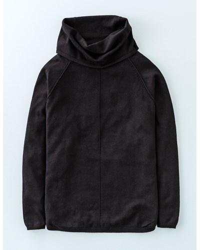 Boden damen pullover mit wasserfallausschnitt schwarz for Boden gutscheincode