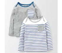 T-Shirts im 2er-Pack Blau Baby Boden