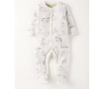 Superweicher Babyschlafanzug Hellgrau Baby Boden