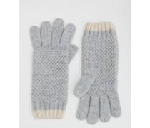 Handschuhe in Blockfarben Silber Damen Boden