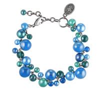 Armband Caviar de Luxe aus Metall mit Glassteinen