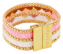 Armband Twinspink aus Messing, Kunststoff & Stoff