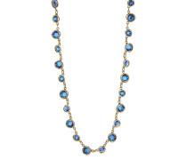 Halskette Sparkle Twist aus Metall mit Glassteinen
