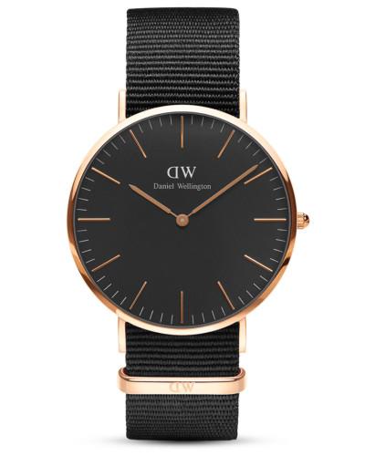 Quarzuhr Classic Black Cornwall DW00100148