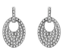 Ohrhänger aus 375 Weißgold mit 0.24 Karat Diamanten