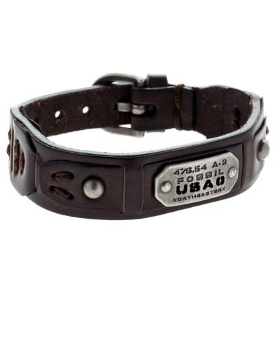 Armband Vintage Casual aus Leder & Edelstahl