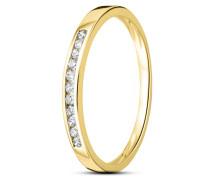 Ring aus 375 Gold mit 0.10 Karat Diamanten-54