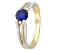 Ring aus 375 Bicolor-Gold